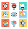 Flat Color Line Design Concepts Icons 27 vector image