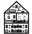 Icon of house with planning vector image
