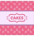 Pattern with cakes and cupcakes vector image