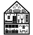 Icon of house with planning vector image vector image