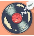 Stay Alive Message On The Vinyl Record Label vector image
