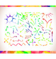 graphic signs colorful watercolor arrows vector image