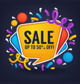 sale banner looks like a bright glossy speech vector image