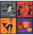 Happy Halloween grungy retro backgrounds vector image vector image