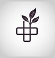 alternative medicine logo vector image