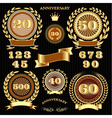 set retro signs for the anniversary vector image vector image