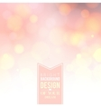 Pink bokeh background vector image