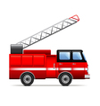 Fire engine isolated on white vector image