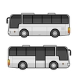 Bus Template Set on White Background vector image
