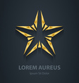 Gold star logo Award 3d icon Golden logotype vector image