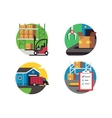 Icons warehouse and logistic vector image