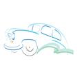 Retro car symbol design silhouette vector image