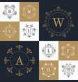 set of elegant monogram design vector image