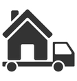 Mobile House Flat Icon vector image