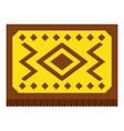 yellow turkish carpet icon isolated vector image