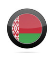 flag of belarus shiny black round button vector image