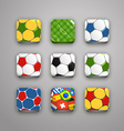 Soccer icons collection vector image vector image