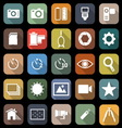 Camera flat icons with long shadow vector image