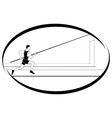 Athletics Pole vaulting 1 vector image