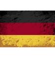 Germany flag Grunge background vector image