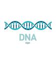 DNA spiral sign vector image