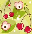 cherries pattern vector image vector image