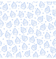 Cake pattern blue icons vector image