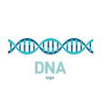 DNA spiral sign vector image