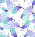 Seamless pattern with bird feathers vector image