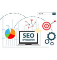 seo optimization flat web analytics vector image