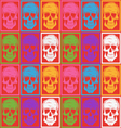 Skull pattern background vector image
