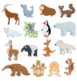 Various Wildlife Animals set vector image