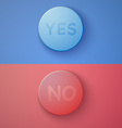 Web Infographic OK Cancel Yes No Colorful Buttons vector image
