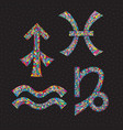 zodiac signs sagittarius capricorn aquarius vector image