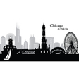 Chicago Illinois skyline vector image