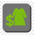 Dress Price Rounded Square Button vector image