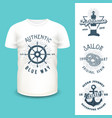 t-shirt mockup with clothing labels vector image