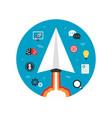 paper plane startup imagination vector image