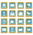 Email icons azure vector image