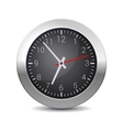 Round Office Wall Clock with Black Dial vector image