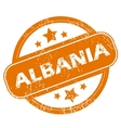 Albania grunge icon vector image