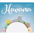 Havana Skyline with Color Building vector image