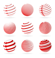 sphere icons vector image vector image