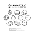 Isometric outline icons set 46 vector image