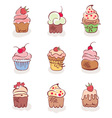 cup cakes vector image vector image