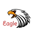 Eagle emblem Crying hawk icon vector image