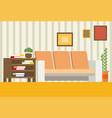living room interior design modern flat vector image