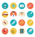 Medical tools and health care icons vector image