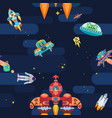 new exciting seamless patter on a space theme vector image