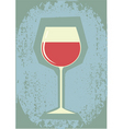 Retro grunge wine vector image